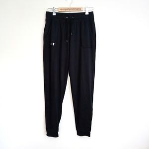 Under Armour Joggers Full Length Black Size Small